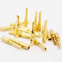 12 sztuk 24 K Gold Plated miedzi BFA 4mm wtyk bananowy męskie złącze głośnikowe