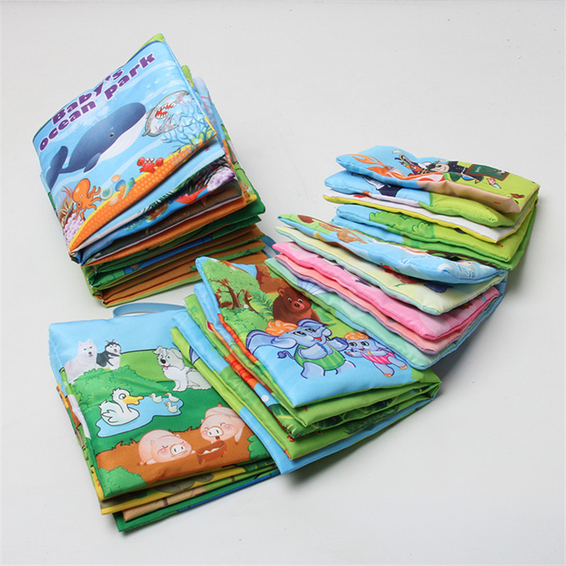 1pcs Retail Baby Toys Infant Kids Early Development Cloth Books Colorful Educational Unfolding Activity Picture Books 0-12 Month