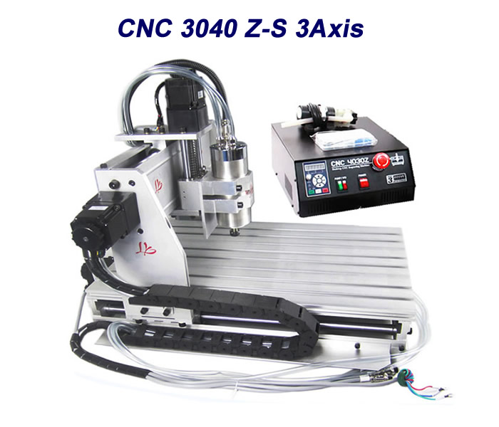 Russia free tax CNC router lathe machine 3040Z-S wood carving machine for PCB engraver with ball screw russia tax free cnc woodworking carving machine 4 axis cnc router 3040 z s with limit switch 1500w spindle for aluminum