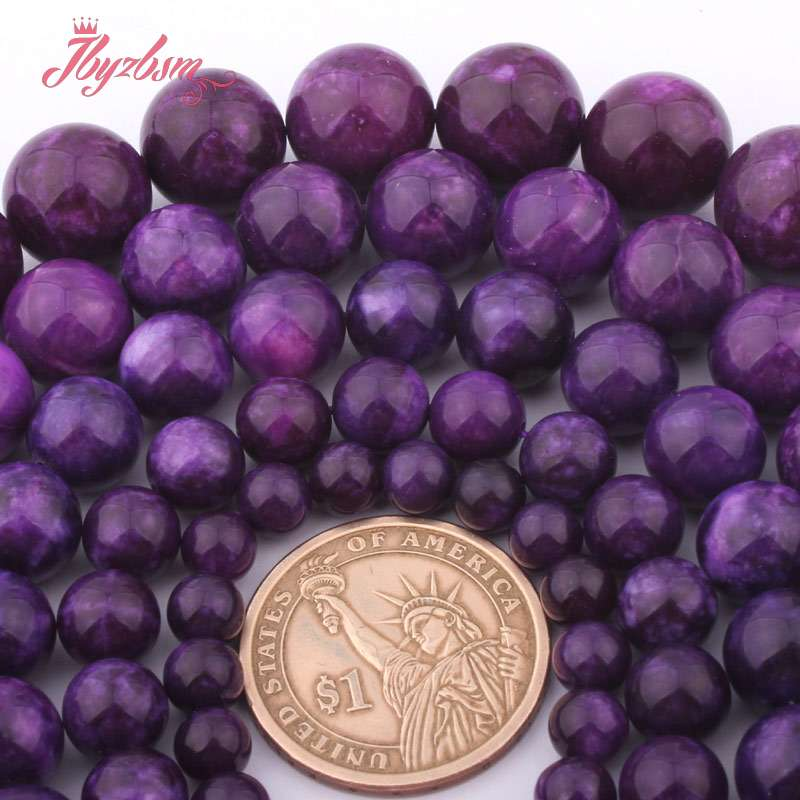 Pcs Frosted  Gemstones Jewellery Making Agate Druzy Round Beads 14mm Purple 25