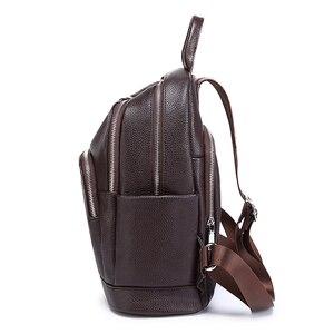 Image 4 - Sac à dos de mode pour femmes en cuir véritable sac à bandoulière de luxe pour femmes