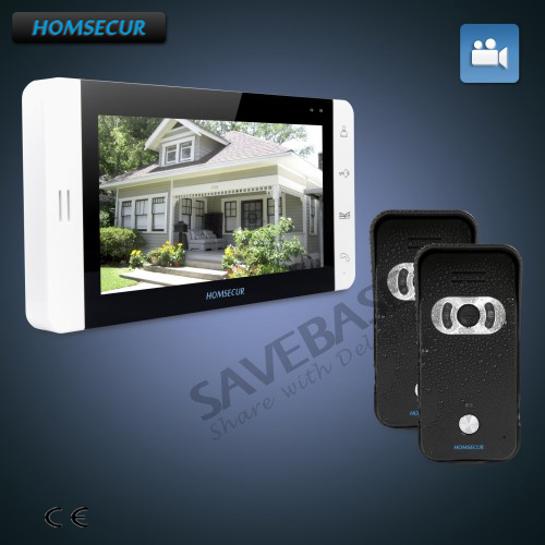"""HOMSECUR 7"""" Video Door Entry Phone Call System+Black Camera+Ship from RU"""