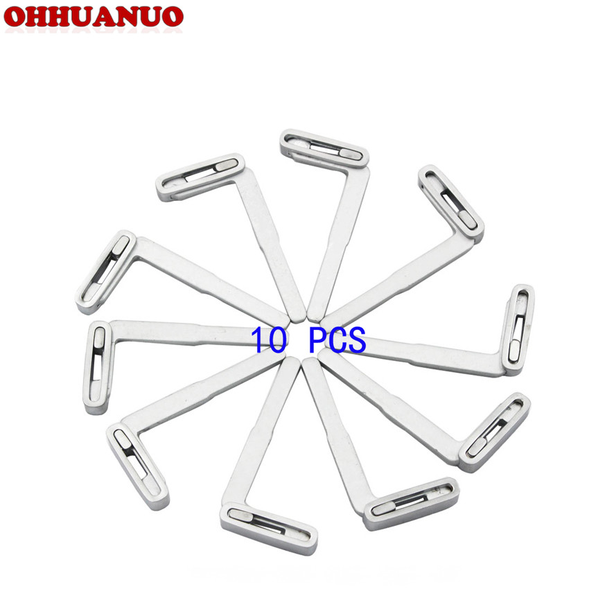 10 PCS/LOT, Replacement Smart Remote Blank Key Blade For