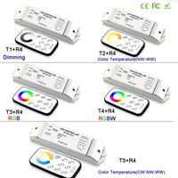 Bincolor led dimming/CCT/RGB/RGBW/CW CCT led dimmer Receiver controller+RF wireless remote for LED Strip Light lamp,DC12V 24V