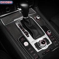For Audi Q7 Interior Modification Carbon Fiber Stickers Car Gear Shift Panel Protective stickers Trim Decoration accessories