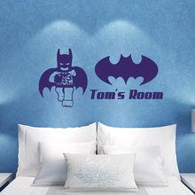 N011 Superhero Batman Children's Name Wall Sticker Wall Art Decal Free Shipping