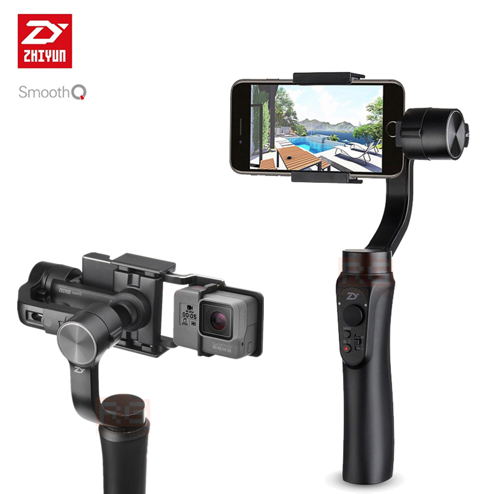 Zhiyun Smooth-Q Smooth Q Handheld Gimbal Stabilizer for Smartphone for iPhone 7 6s Plus S7 S6 Wireless Control Vertical Shooting feiyutech spg gimbal 3 axis handheld gimbal stabilizer for iphone 7 6 plus smartphone gopro action camera vs zhiyun smooth q