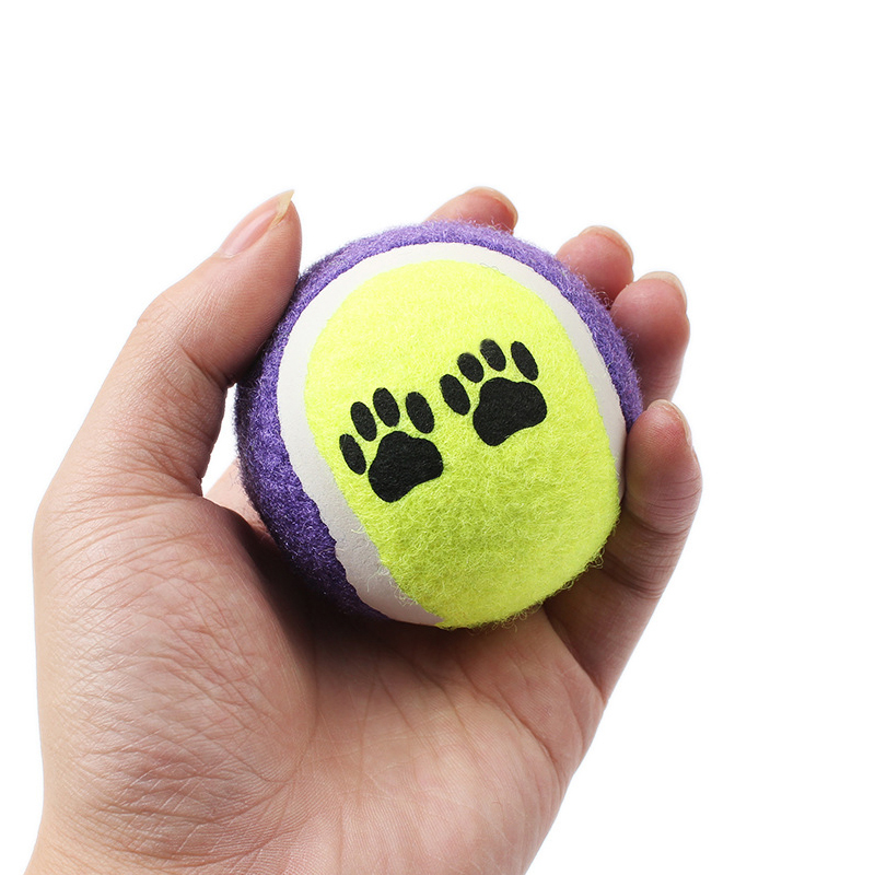 3pcs/lot Small Tennis Pet Playing Ball for Dogs Cat Chew Toy Inflatable Tennis Ball Throwing Toys Supplies Outdoor Cricket