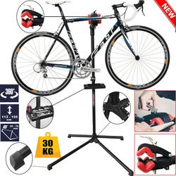 2 Color Adjustable Bike Repair Stand Parking 104-190cm Steel Alloy + PP Mountain Bicycle Accessories Outdoor Bicycle Repair Tool