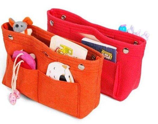 Fashion Women Handbag Women Felt Cosmetic Bag Organizer , Handbag Organizer,  Storage Bag Sample Order