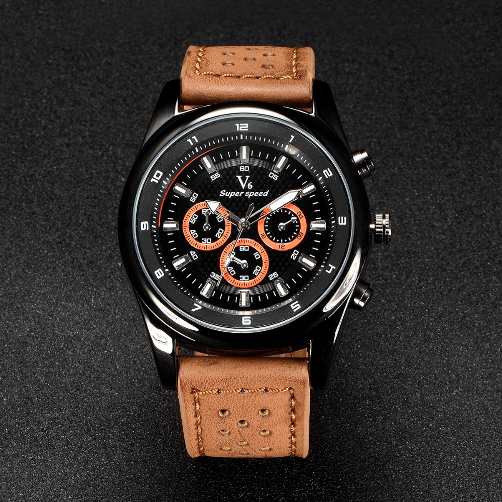 V6 Mens Watches NORTH Brand Luxury Casual Military Quartz Sports Wristwatch Leather Strap Male Clock watch relogio masculino top brand watch men luxury quartz watch casual military sports wristwatch male leather strap clock relogio masculino lz2085