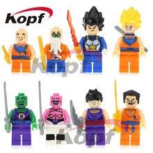 Super Heróis Figura Dragon Ball Z Son Goku/Vegeta/Master Roshi/Kuririn Conjunto Modelo de Blocos de Construção Tijolos Brinquedos de Presente crianças JR265