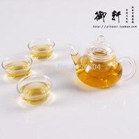 Glass Teapot 180ML Glass Teaset / kettle, Tea Set Including 3 Double wall Tea Cups Heat resistant Glass Pot Pote De Vidro Teaset