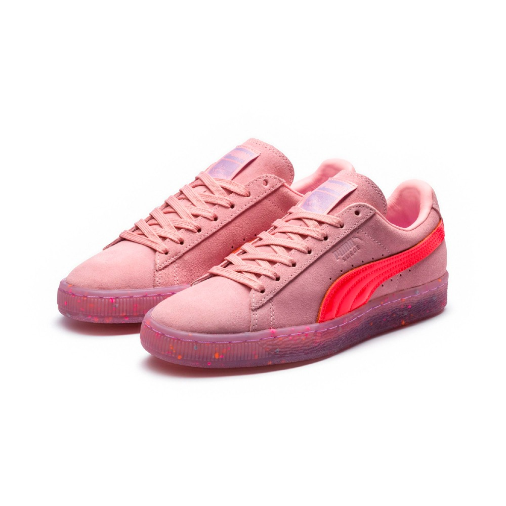 Free shipping New puma shoes X Unicorn new ladys Pink campus series is transparent and low