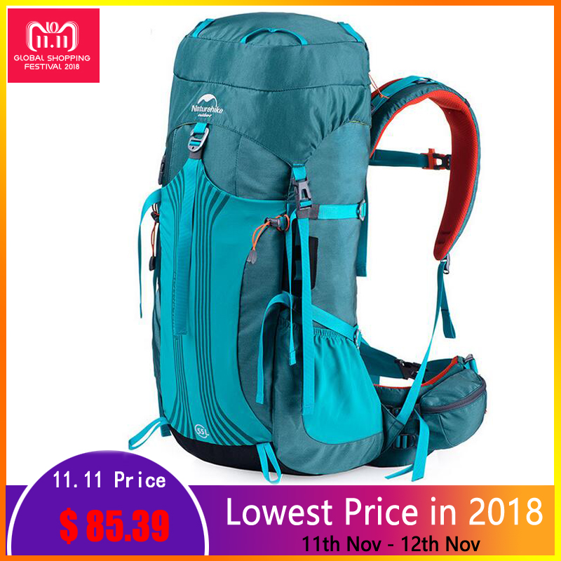 Naturehike 55L 65L Men Women Outdoor Backpack Camping Sports Bag Waterproof Travel Backpack Hiking Bag Climbing Rucksack 65l professional outdoor mountaineering bag camouflage bag large capacity multi function camping hiking backpack outdoor travel