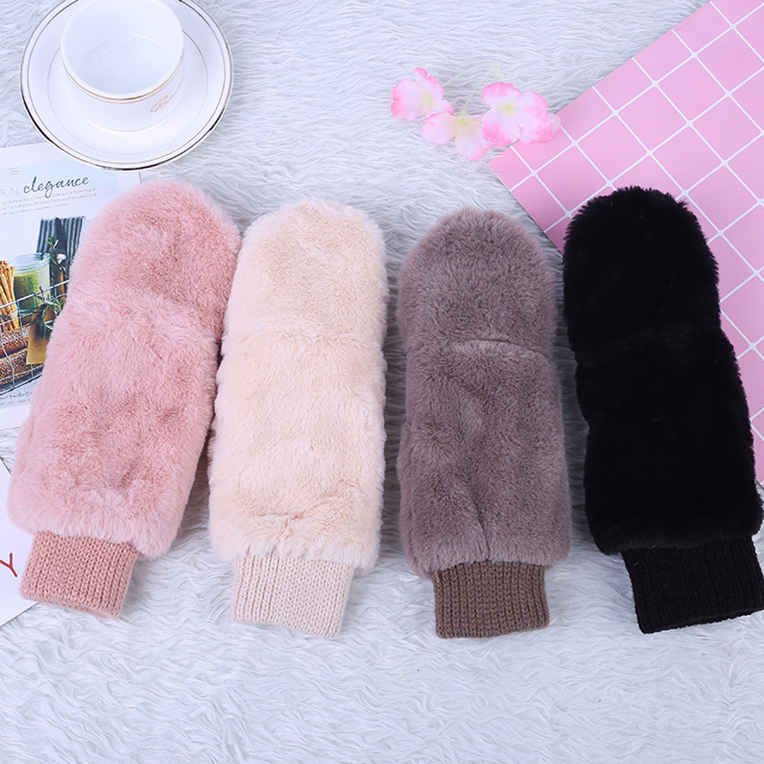 Hot Winter Thickened Cute Whole Covered Finger Mitt