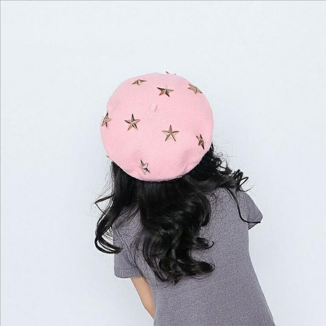 oZyc Berets for Baby Girl 2018 New Children Autumn winter wool Beret Little  Girls Spring Hats Dome Cap Girl Fashion Caps 48845985f28