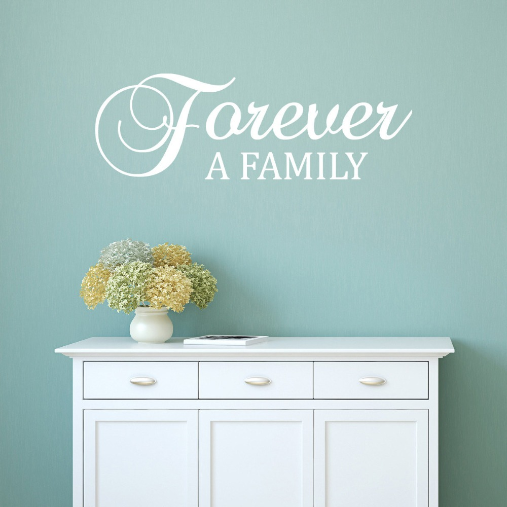 Family Wall Decal Quotes Vinyl Stickers Livingroom Interior Removable Art Characters Home Decor Design Quote