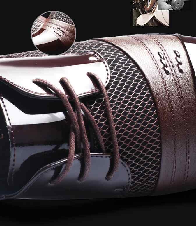 2019 zapatos de vestir de cuero para hombre de negocios zapatos de oficina formales planos transpirables de verano otoño Oxford zapatos de talla grande 38-48