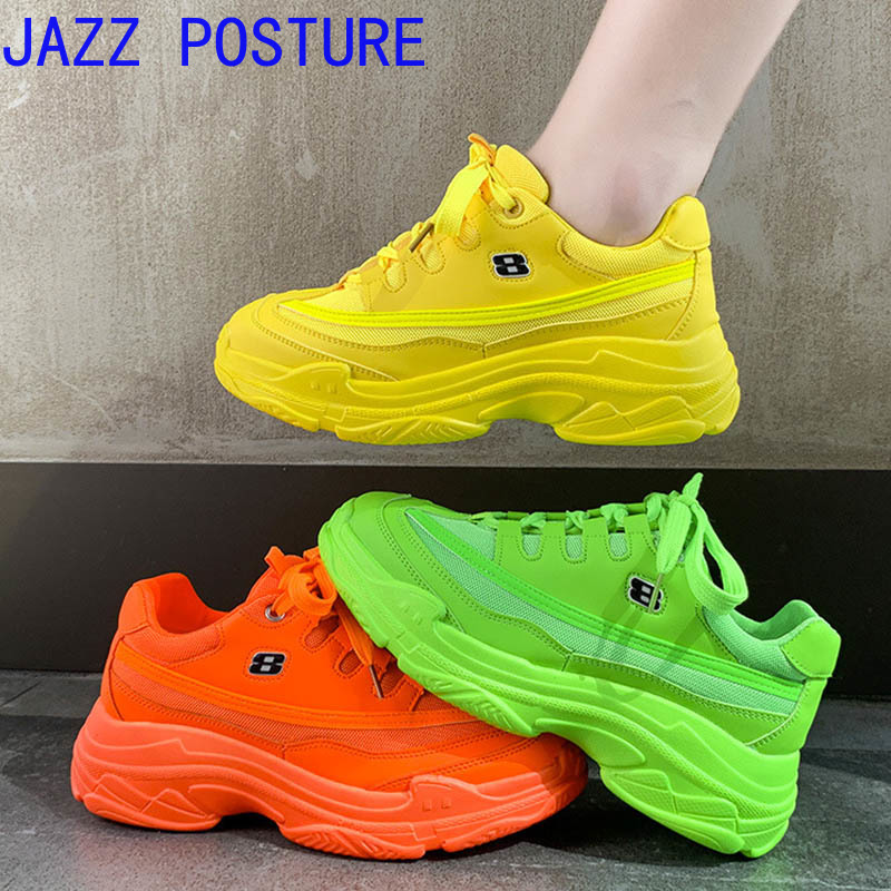 Ms Brand Sneakers Summer Breathable Mesh Cloth Shoes Yellow Fluorescent Green Orange Tenis Feminino Shoes Basket Of Women Z072