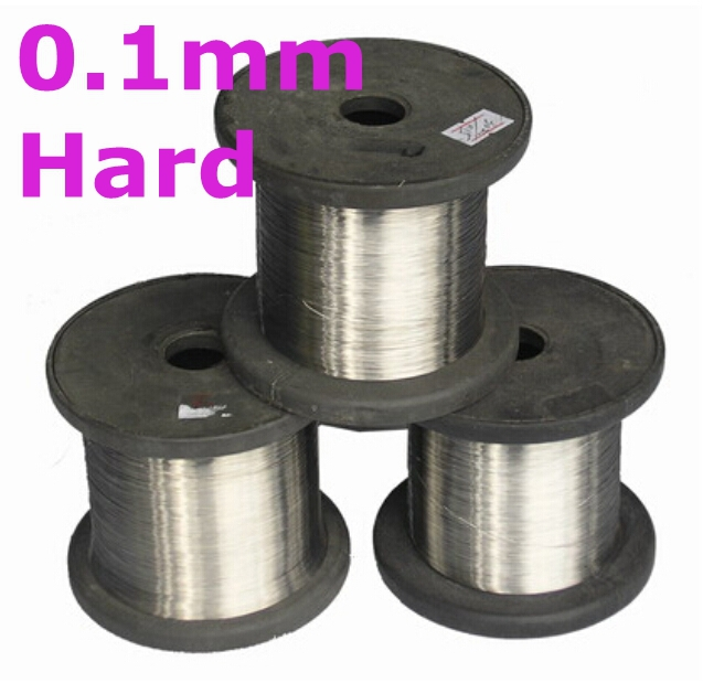 0.1mm hard condition Bright Smooth Surface 100meters SS304 Stainless Steel Wire Spools Free Shipping 304 diameter 12mm stainless steel solid round bar bright smooth surface diy hardware round rods pole