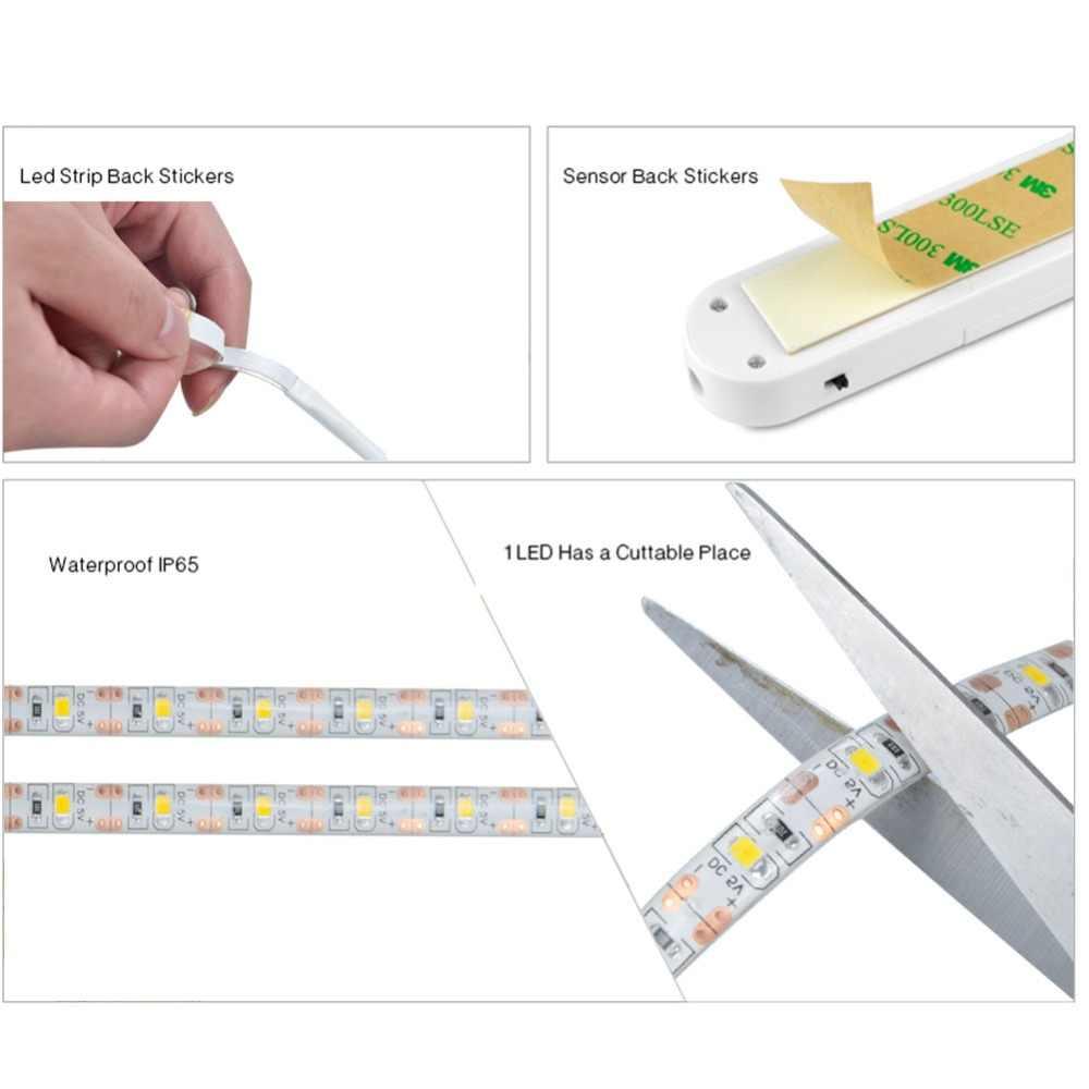 EeeToo беспроводной PIR датчик движения светодиодный ночник USB светодиодные полосы Кабинета лестницы Рождественский Декор освещение ночник для детей