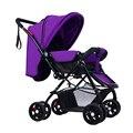 Alta Qualidade Portátil À Prova de Choque Carrinho de bebê Carrinho De Bebê Da Criança Recém-nascidos Crianças Infantil Sono Transporte Dobrável Fácil para se sentar e deitar