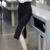 Manera Más El Tamaño S-5XL mujeres Faldas de Color negro rojo OL Bodycon Delgado Falda Lápiz de Cintura Alta Mediados de-becerro Formal falda de las mujeres
