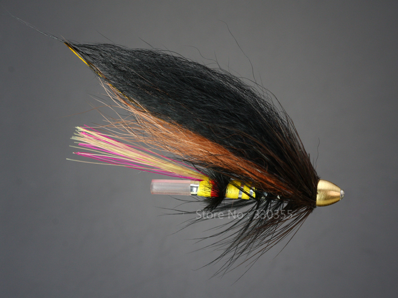 100 Pcs Tube Fly MultiColor Cone Heads Salmon And Sea Trout Fly Fishing Flies Lures