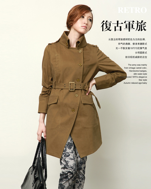 Female autumn 2013 diary women's top fashion trend preppy style formal ol women's trench outerwear