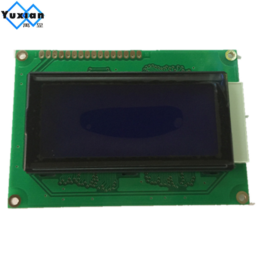 Free shipping 2pcs LCD 1604A 16X4 Russian cyrillic Font Language character lcd display module LCM blue 5v