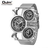 Oulm New Design Three Time Zone Unique Men S Watches Luxury Brand Male Quartz Watch Man