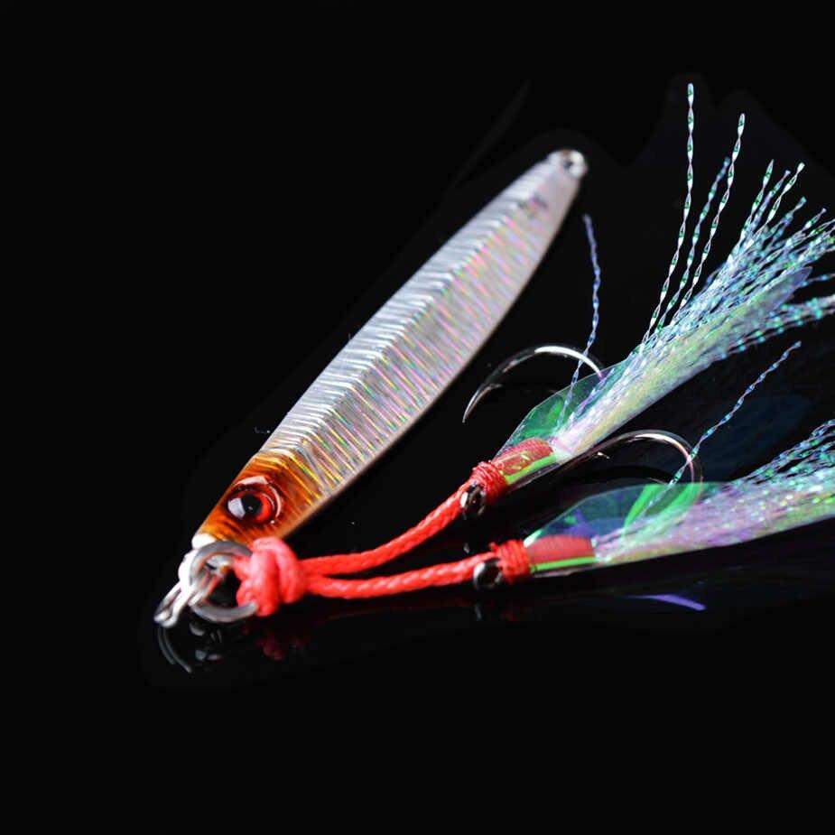 توما المياه المالحة شرك الصيد المهتز بطيء الملعب إغراء 20g 40g المعادن مايكرو الرصاص الأسماك شور القفز مضيئة الصيد السحر