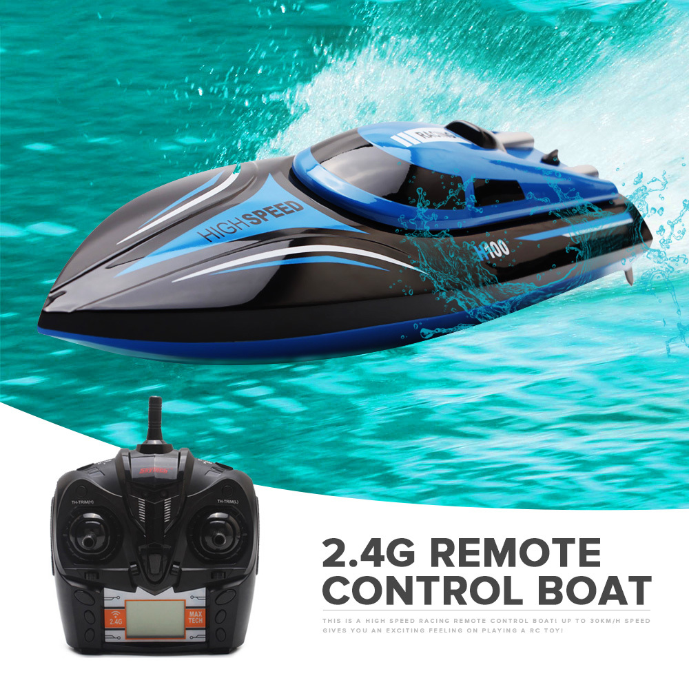 Skytech H100 RC Boat 2.4GHz 4 Channel High Speed Racing Remote Control Boat with LCD Screen x6 2 4g 4 ch remote control quadcopter toy with lcd screen white black