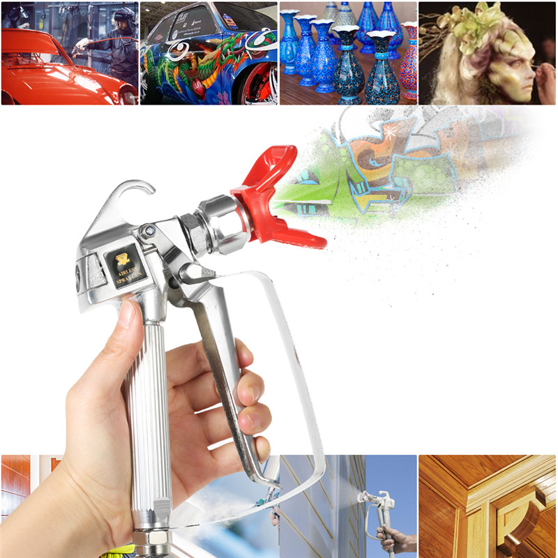 Spray gun paint latex paint spray gun With Nozzle Guard for spray gun for painting cars Pump Sprayer& airless spray tips wholesale sandblasting gun feeding nozzle pneumatic spray mortar exterior wall decoration of building latex paint spray paint th page 9