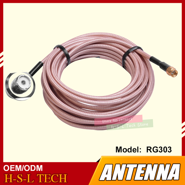 US $30 0 |Two Way Radio Antenna Connector Extend Cable 5M Feeder Cable High  Screen Clip Side Line For Walkie Talkie CB Coaxial Cable-in Walkie Talkie