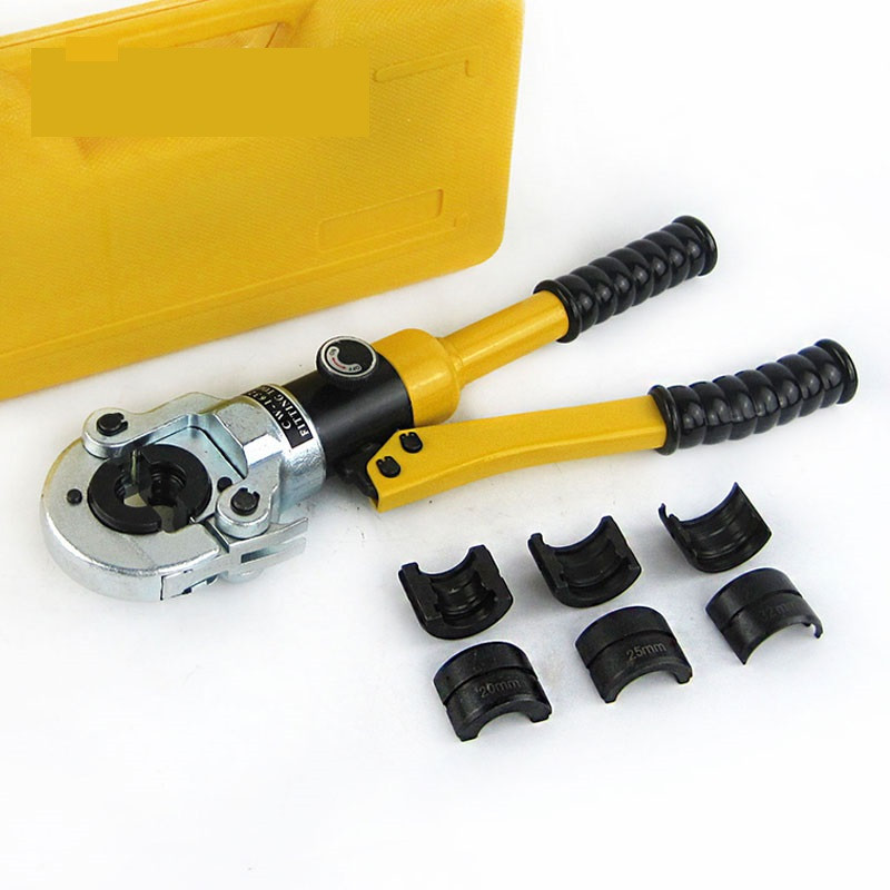Hydraulic Pex Pipe Tube Crimping Tool CW-1632 Floor Heating Pipe Plumbing Pipe Pressure Pipe Clamp 10T pex hydraulic tools cw 1632 with telescopic handle 360 degrees head