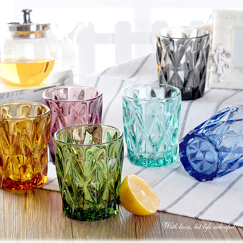 Water Glass for Juice Beer Tea Milk Wine Drinking Drinkware sets 4 pcs 240 ml for Cold Drink Glasses Family and Friends Party