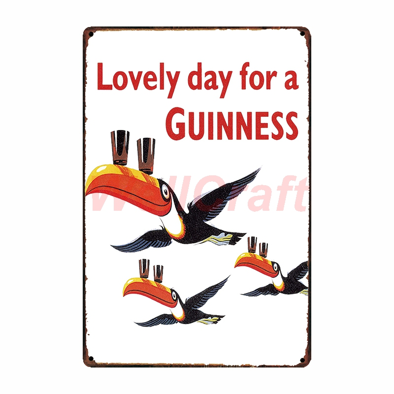 WellCraft Guinness Metal Poster Wall Plaque BEER Mural Painting Antique Tin Sign Gift Vintage Craft Tourist souvenir FG 209 in Plaques Signs from Home Garden