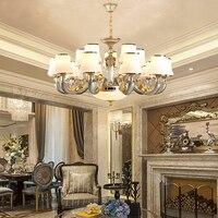 In lega di zinco jade ha condotto lampadario soggiorno lampadario di cristallo ristorante lampadari lampada scala di Hotel moderno lampadario lampadina