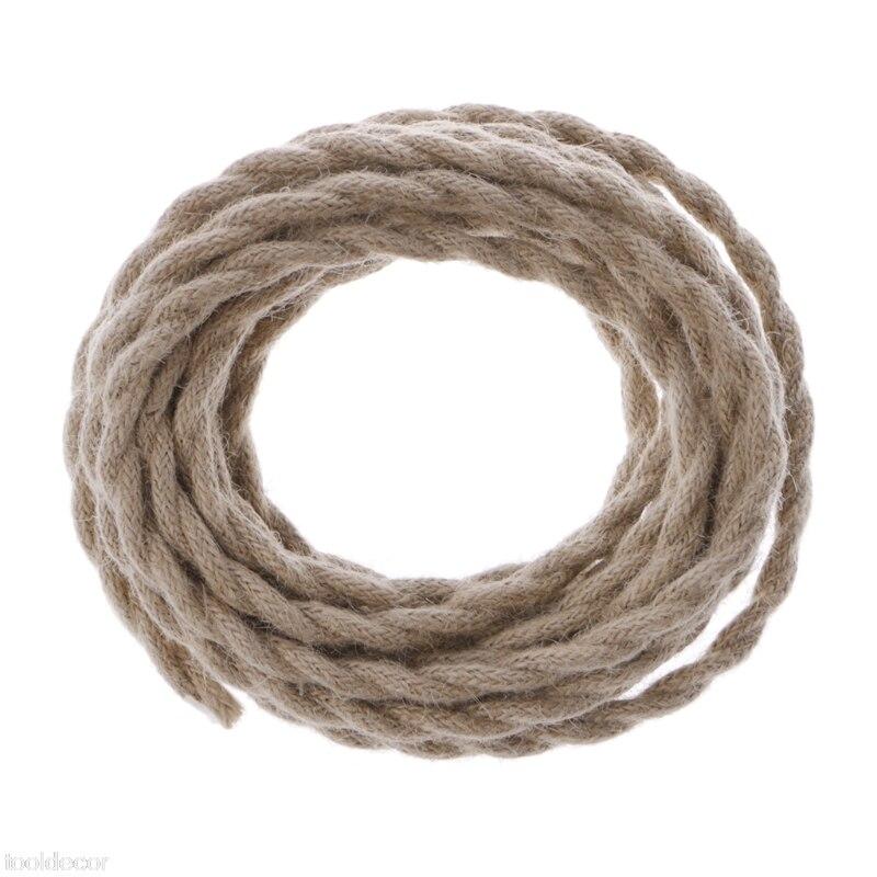 5 Meters 2x0.75 Vintage Rope Twisted Electric Wire Retro DIY Hemp ...