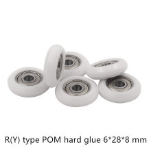 POM Nylon plastic pulley for DIY 3D printer engraving machine bearings 625ZZ 626ZZ R(Y) type wheel EU 2020 aluminum profile(China)