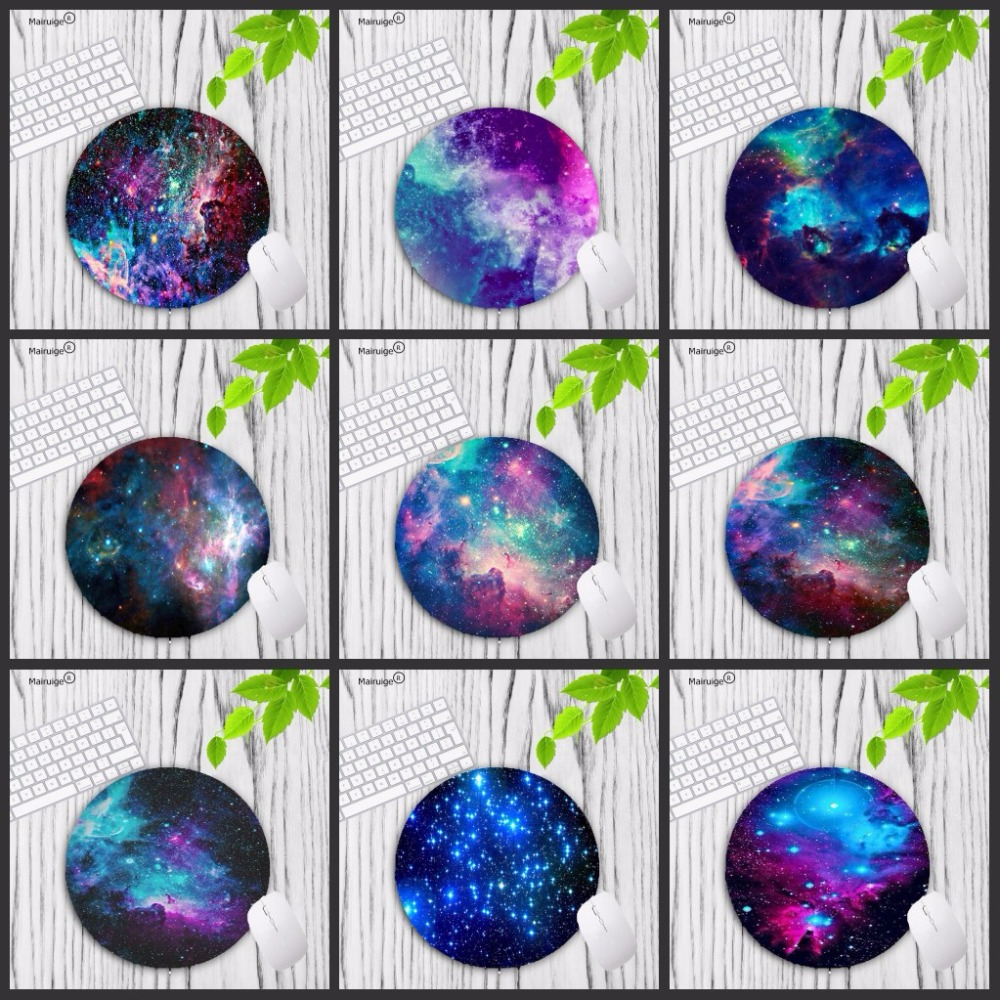 Mairuige Big Promotion Colorful Space Colour Gaming Circle Mouse Pad Computer Mats Size For 20*20cm Round Mousepad Rubber Mat