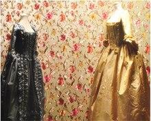 beibehang papel de parede papier peint Idyllic Floral Gold KTV Hotel Wall Decoration Wallpaper hudas beauty bebang