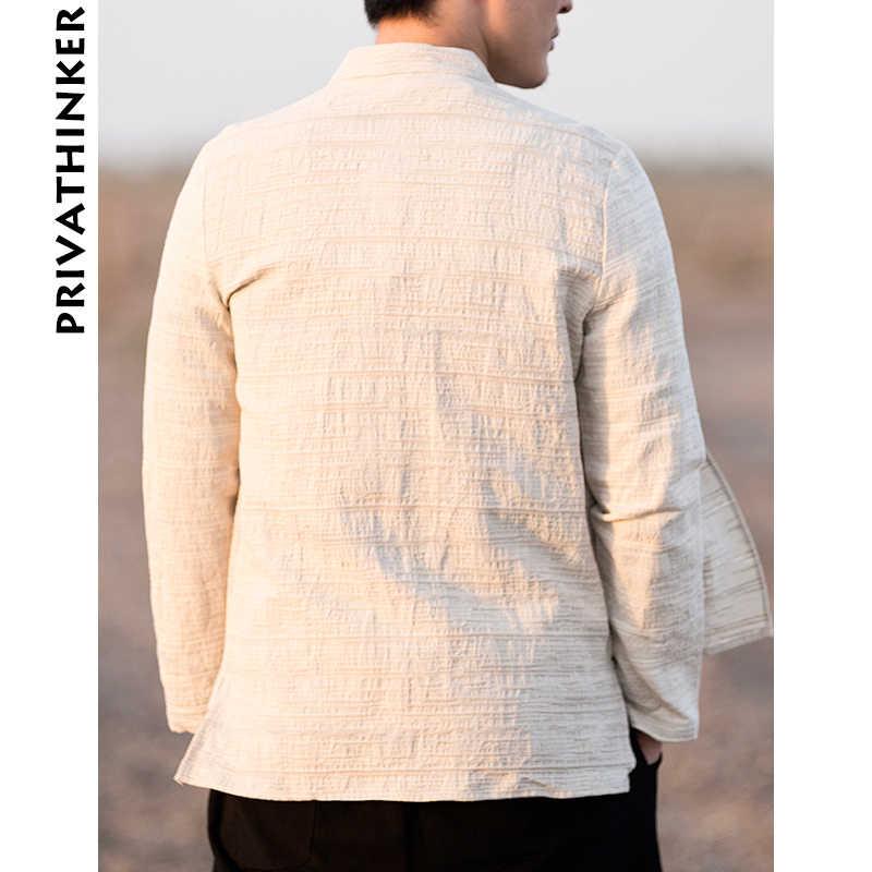 中国風店男性服綿 2019 リネンカジュアル黒シャツの男長袖シャツ男性中国フェイク二枚ウインドブレーカー