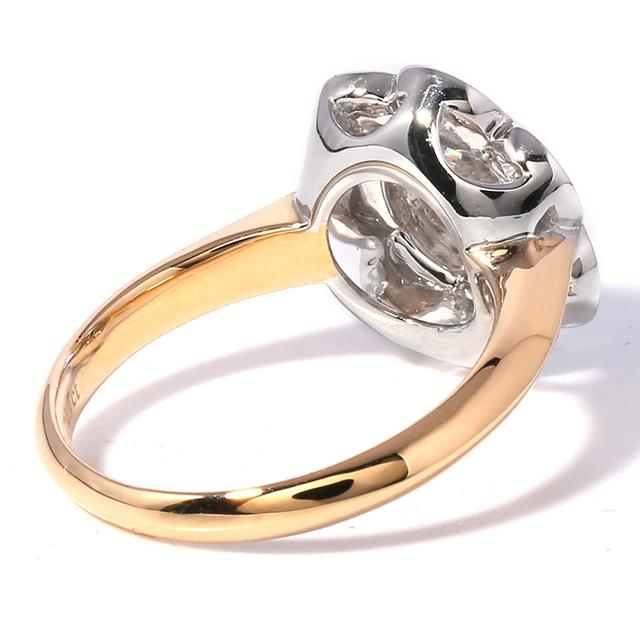 1.7CT Moissanite Diamond 14K 585 White / Yellow Gold Ring