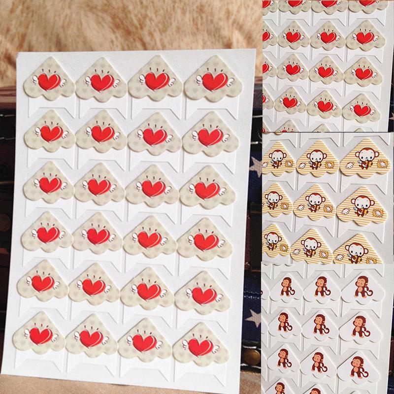 Рамка украшения DIY бумажные наклейки 24 шт./лот высокое качество уголок горячая Распродажа животные милые для фото альбомы для скрапбукинга ...