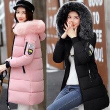 Winter jacket women cotton coat 2017 new fur collar hood parka female long jackets thick warm
