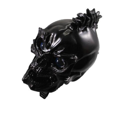 Черный светодиодный Светодиодный череп передняя фара лампа для Harley Honda Yamaha Suzuki Chopper Мотоцикл