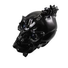 Черный светодиодный череп передняя фара лампа для Harley Honda Yamaha Suzuki Chopper Мотоцикл